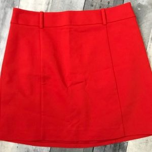 Express Red Mini Skirt with Belt Loops - 323